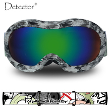 Detector Kids Ski Goggles Boys Girls Snowboard Double Anti-Fog UV400 Protection Ski Glasses Winter Snow Sports Googles