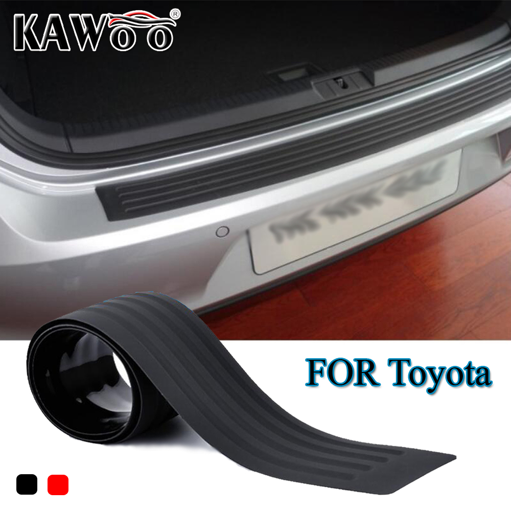 Kawoo for toyota rav4 camry highlander crown corolla celica rubber rear guard bumper protect trim cover sill mat pad car styling