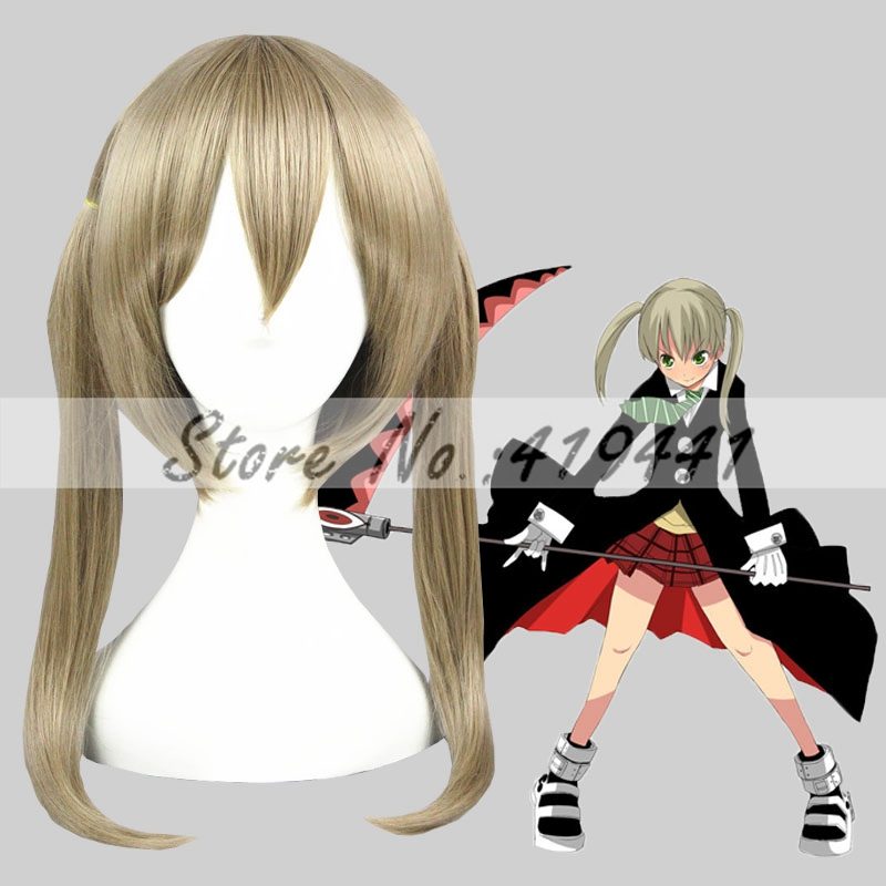 Free Shipping 45cm Short Soul Eater Maka Cosplay Albarn Blond Synthetic Anime Party Cosplay Wig<br><br>Aliexpress