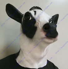 2013 Hot Selling Realistic Full Head Carnival Mask Celebrations Party Adult Cap Cow Mask