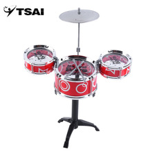 TSAI Toy Rock Drums Simulation Musical Instruments Children Kids Educational Improving their music ability for Children gifts(China)