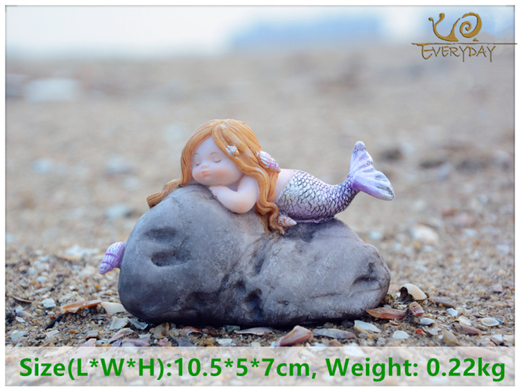 Cute Mediterranean Mermaid Fish Tank Miniature