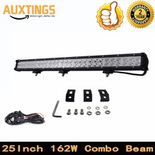 "DISCOUNT FREE SHPPING 25""INCH 162W WATT COMBO Beam car led light bar ip67 led work light bar 110v led light bar for 4X4 hilux"