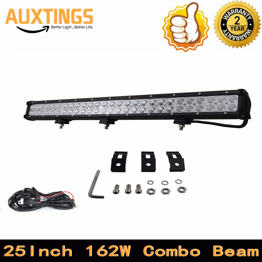 "DISCOUNT FREE SHPPING 25""INCH 162W WATT COMBO Beam car led light bar ip67 led work light bar 110v led light bar for 4X4 hilux(China)"