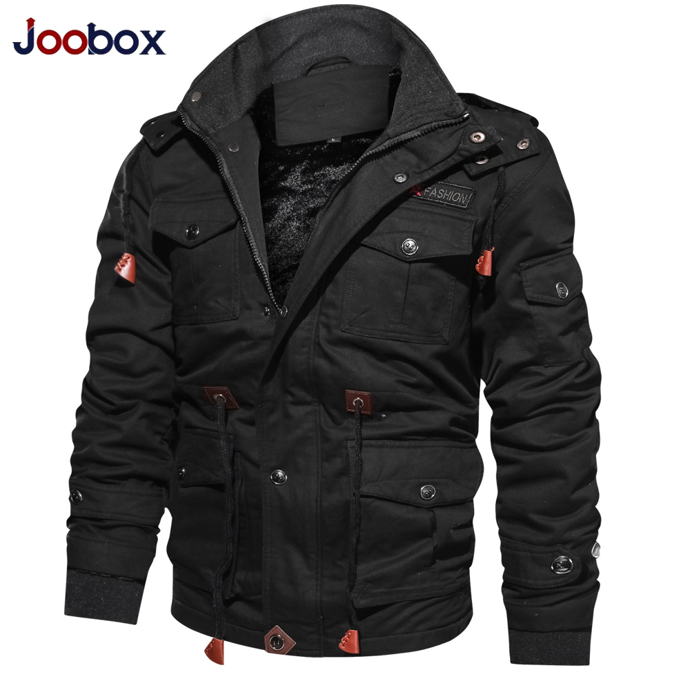 Brand luxury Winter Jacket Men Military Style Multi-pocket Thick Parka Men Winter Coat Male Hoodies bomber jacket Plus Size 4XL