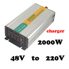 2000W  48V to 220v  ac inverter with charger high quality continuous power inverter 2000 watt power inverter 220v,50v to 220v