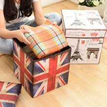 Multifunctional Folding Storage Chair Stool Non-moven Home Practical  Folded Storage Stool / Storage bag / Sundry bin