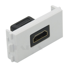 HDMI connector wall plate with very short length