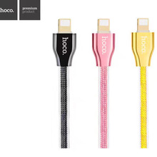 HOCO Luxury 1.2M USB Cable Jelly Jet Black 8Pin Lighting USB Data Sync Charging Cable for iPhone 7 6 6S Plus 5 5s SE iPad iOS10