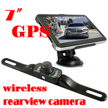 "by dhl or ems 20 pieces 7"" HD Bluetooth AV-IN 128M RAM GPS Navigation+Wireless Reverse Camera(China)"