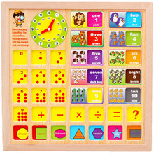 Large Multifunctional Drawing Board Wooden Toys Educational Magnetic Puzzle Farm Jungle Animal Children Kids Jigsaw Baby Easel