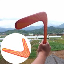 wooden Boomerang classic V shape Frisbee Flying Saucer Toys 40 meters Popular child outdoor toy(China)