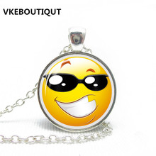 2017 New Rushed Maxi Necklace Collier Collares Smiley Locket Necklace Flash Modern Charm Design Jewelry Handmade Fantasy Gift