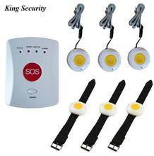 Elderly lonely help GSM security alarm panic button GS-EG GSM Emergency SOS System with 6 sos buttons GSM 900/1800 MHz