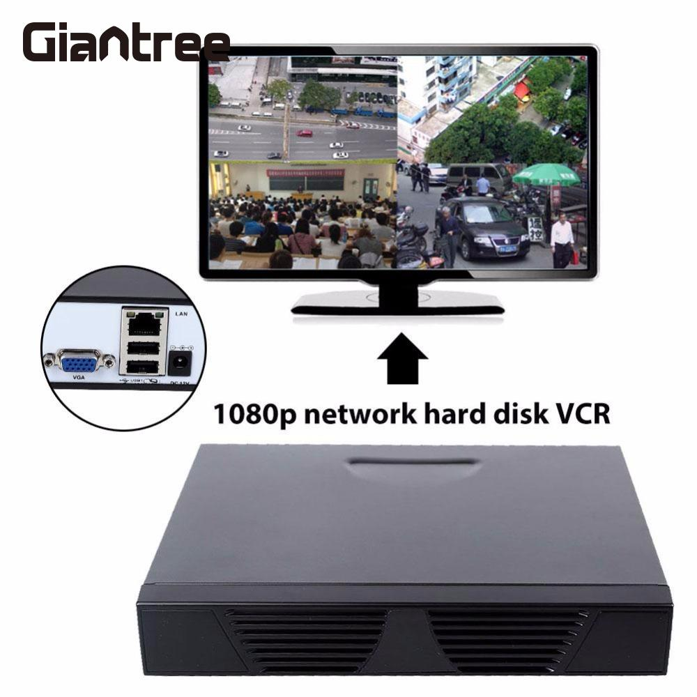 giantree 4CH 1080P Network Hard Disk DVR Camera NVR US Plug CCTV Security Video Recorders<br>