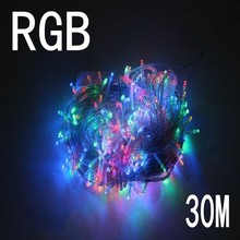 rgb color 30m 240 led String Lights for Xmas Tree Holiday Wedding Party Decoration Halloween Restaurant or Bar and Home Garden(China)
