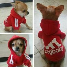 New Sport Cotton Dog Clothes Puppy Hoodies Small Pet jacket Yorkshire Chihuahua size S M L ( fit for pet less than 4kg)