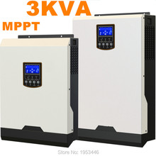 Solar Inverter 3Kva 2400W Off Grid Inverter 24V to 220V 40A MPPT Hybrid Solar Inverter Pure Sine Wave Inverter 25A AC Charger