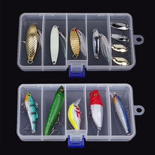Transparent Plastic Fishing Lure Bait Box Storage Organizer Container Case Popular New