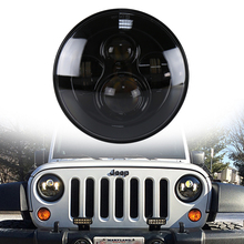 "2 PCS DOT H4 Plug Hi/lo Beam Projector Defender Headlight 12V 7"" Head Light For Wrangler"