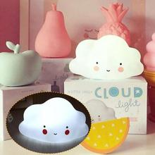 Cute Mini Clouds Night Light Emitting Bedroom Nursery Room Decor Veilleuse For Baby