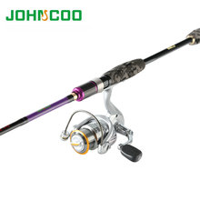 Fishing Rod Combo 2.1m/2.4m 3 tips ML M MH 7' 2 Sections Carbon Spinning Rod with Spinning Reel 2000size 5.0:1 Fishing Rod set