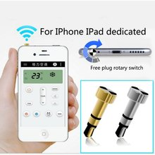 Luxury 3.5mm IR Smart Remote Control Switch Controller Dust Plug For IPhone 4 4s 5 5s 5c 6 6s Ipad IOS Air Conditioner/TV/DVD