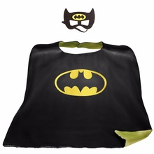 90*70cm Teen & Adult Superhero capes cape+mask Double side Satin fabric capes Halloween Cosplay gifts costumes Party(China)