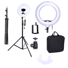Camera Photo Video 13 inches Ring Dimmable Fluorescent Flash Light Lamp for Portrait,Photography,Video Shooting with Tripod