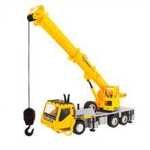 100% New 1:18 motor RC crane remote control 4 wheel electric toy trucks charging boy car child cranes model(China)