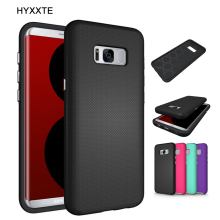 HYXXTE Hybrid Dual Layer Armor Case Cover for Samsung Galaxy S5 S6 S7/S7 Edge/S7 Active S8/S8 Plus Shockproof Protective Shell
