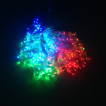 3*3M 300LED RGB Color Curtain Icicle String lights Party happy birthday festival room decoration 110-240v Free Shipping