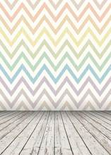Colored Zigzag Wallpaper Wooden Floor Vinyl Backdrop 5X7ft Photography Studio Vinyl Children Props Photo Backgrounds