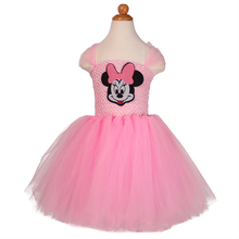 Princess Minnie Mouse Inspired Pink Tulle Tutu Dress for Kids Baby Girl Age 2T-12Y Carnival Party Birthday Cosplay Dance Costume