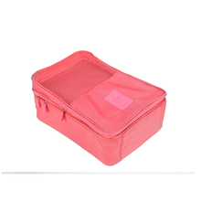 Sales promotion Shoes Pouch Zipper Design nylon & mesh Luggage Organizer Unique Travel bags Box Stores up to 3 pairs of shoes