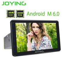 JOYING 1din android car radio head unit with digital amplifier audio 8'' full touch screen stereo gps navi system display player(China)