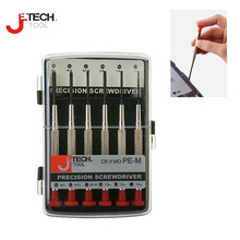 Jetech 6 in 1 CR-V mini precise screwdriver set kit  for PC glasses watch electronic repair tools destornilladores precision set