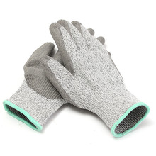 Durable Quality HPPE+PU Heather Grey Agriculture Safety Cut Stab Proof Resistant Protective Mesh Butcher Gloves