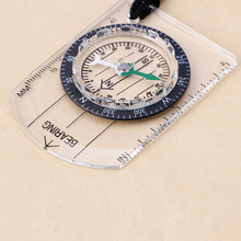 Hot  Mini Baseplate Compass Map Scale Ruler Outdoor Camping Hiking Cycling Scouts Military Compass  Emergency Survival Tool