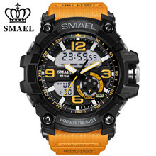 2017 Smael Mens Watches Top Brand Luxury LED Digital Quartz Watch Men's Shock Resistant Style Sport Military Relogio Masculino(China)