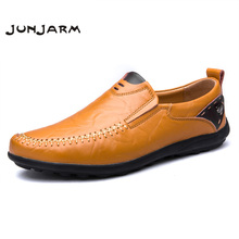 Buy JUNJARM 2018 Handmade Mens Loafers Genuine Leather Casual Mens Slip Shoes Breathable Mens Flats Moccasins Plus Size 38-47 for $24.90 in AliExpress store