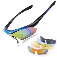 WOLFBIKE Professional Polarized Cycling Glasses UV 400 With 5 Lens 5 color Bike Goggles Motocross Bicycle Sunglasses