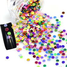 2g/Bottle Hot Round Mini DIY Designs Nail Sequin Powder Dust Glitter Rainbow Sparkly Paillette Sticker 3d Beauty Decor Y07