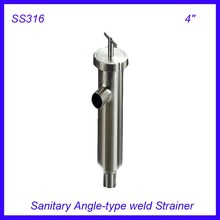 4'' Sanitary Stainless Steel SS316 Angle-type Filter Strainer Filter f Beer/ dairy/ pharmaceutical/beverag /chemical industry(China)