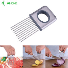 AIHOME Onion Holder Slicer Vegetable Tomato Cutter Pork Meat Needle Hamstring Fork Stainless Steel Gadgets Kitchen Cooking Tools
