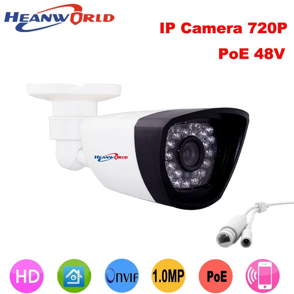 POE camera Megapixel 720P Power Over Ethernet IR Bullet IP Camera ONVIF outdoor indoor Home Security Camera CCTV Network IP Cam<br>