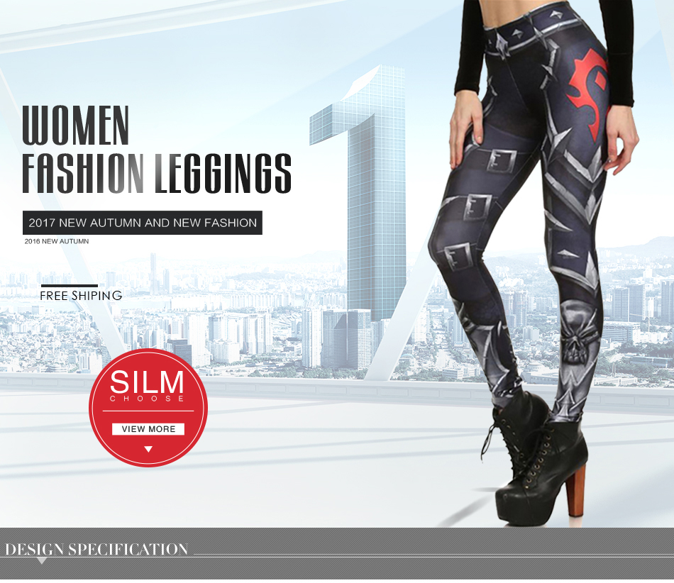 17 New Design Spring Summer WOW OF THE HORDE Legins Popular Fashion Leggins Printed Women Leggings 11
