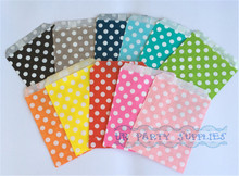 "5000pcs Rainbow Polka Dot Medium Paper Favor Bags Treat Bags5"" x 7""  Art Party Birthday Favor Bags FOOD SAFE Candy Buffet Bags"