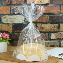 10Pcs/Set Fashion 8 inch Chiffon Cake Packaging Bags Bread Plastic Package Birthday Gift 30x36x8cm