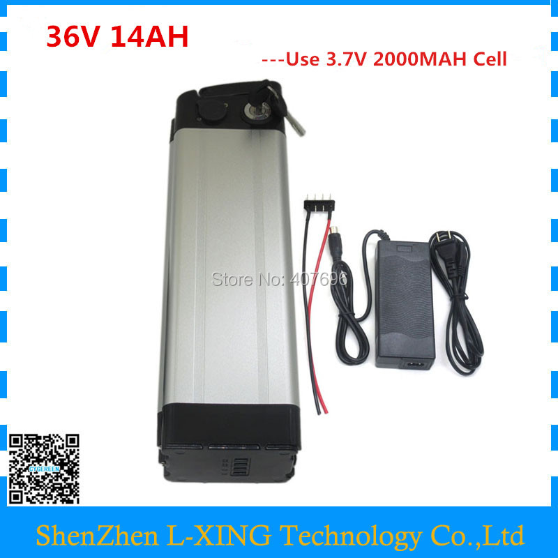 Battery 36V 14AH 500W Bicycle Battery 36 V 42V 2A Charger lithium Scooter Battery 36v Electric Bike Battery